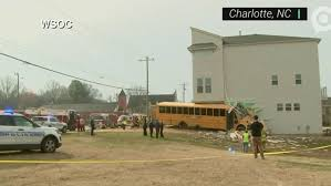 No major injuries after school bus crashes into building in North ...