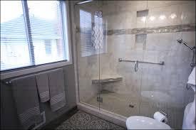 Bathroom Remodel Gray Tile Best Black And Blue Glass Subway Dark