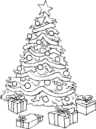 Small Picture Christmas Tree Coloring Pages For Kids Printable Best Resume