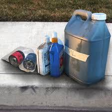 motor oil the household hazardous waste