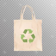 Reusable Cloth Bag With Recycle Emblem On Transparent Background... Stock Photo, Picture And Royalty Free Image. Image 105927415.