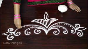 Side Rangoli Designs Images Easy Free Hand Rangoli Side Designs Muggulu Side Designs