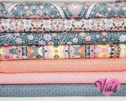 91 best Fabric images on Pinterest | Fat quarters, Quilting and ... & Fat Quarter Kit : Silent Cinema Jenean Morrison Orange Peach Free Spirit  Fabric Designer Cotton Quilt Fabric Bundle on Etsy Adamdwight.com