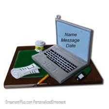 the office ornaments. Brilliant The Laptop Office Job Ornament  Personalized For The Ornaments 0