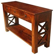 solid wood console table rustic solid wood entry hallway console table with drawers leick furniture boa