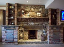 basement fireplaces. rumford fireplace with repurposed materials basement fireplaces o