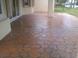 raw shapes of patio flooring over concrete in large sized patio design full size