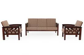 diamond wooden sofa 3 1 1 set