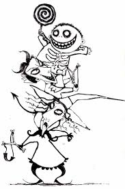 Disney Nightmare Before Christmas Coloring Pages