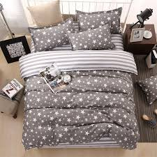 classic bedding set 3 size grey blue flower bed linens 4pcs set duvet cover set past bed sheet ab side duvet cover
