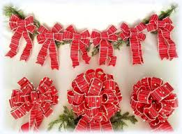 Lighted Holiday Bow Amazon Com Christmas Tree Topper Bow Set Set Of 9 Bows