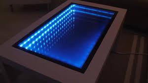 diy infinity mirror coffee table gif