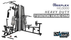 Impex Home Gym Exercise Chart Home Gym Reeplex Hg3000 Multi Station Dual 300lbs Stack Exercise Video
