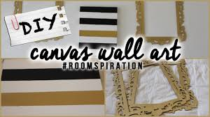 >diy easy canvas wall art youtube