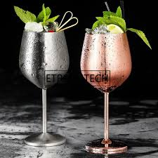 2019 304 stainless steel red wine glass silver rose gold goblets juice drink champagne goblet party barware kitchen tools 500ml from rudelf