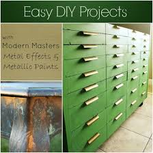 easy diy projects with modern masters metal effectetallic paints modern masters cafe blog
