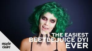 the easiest beetlejuice makeup tutorial ever