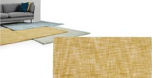 a rug 120 x 170 cm in ochre