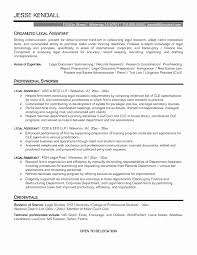 Legal Resume Template Fresh Work Resume Examplessecretary Resume