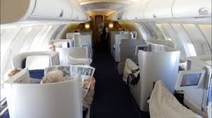 British Airways Boeing 747 Business Class Upper Cabin London To San Francisco