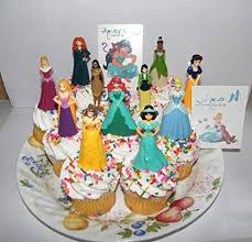 Amazoncom Disney Princess Deluxe Cake Toppers Cupcake Decorations