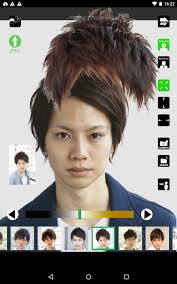 Android 用の 男の髪型シミュレーションアプリ メンズヘア Apk を