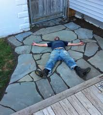 one man one day one brand new flagstone patio