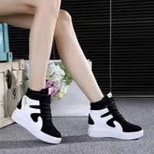 <b>High top emery</b> leather <b>shoes</b> women's leisure muffin single <b>shoe</b> ...