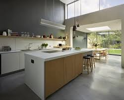 architectural kitchen designs. Kitchen Natural Simple Architecture With White And Wooden Cabinet Applied On The Grey Floor It Architectural Designs U