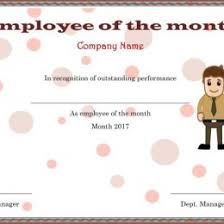 Employee Of The Month Template With Photo Elegant And Funny Employee Of The Month Certificate Templates Free