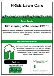 Free Lawn Mowing Flyer Template Lawn Care Flyer Designs Lawn Care Flyers Examples Free Lawn Mowing
