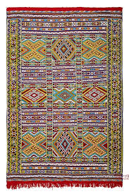 moroccan kilim rug high atlas pure wool hand embroidered large 240 cm x 155 cm 7 87 ft x 5 1 ft