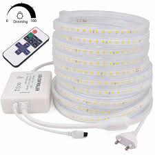 220V Dây Đèn LED 2835 An Toàn Cao Độ Sáng Cao Mềm Mại Đèn LED Dẻo 120 Đèn  LED/M Chống Nước Chiếu Sáng Băng điều Khiển Từ Xa 1 20M|Dải Đèn LED