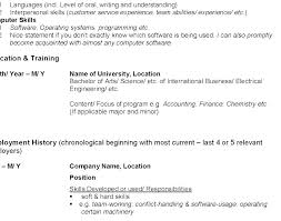 Outline For A Resume For Job Resume Outline Template Writing Resume ...