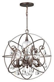 crystorama 9026 eb cl mwp solaris medium 22 inch diameter english bronze clear crystal pendant lamp cry 9026 eb cl mwp