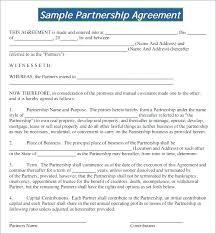 Partner Contract Sample Best Strategic Partnership Template Saimarashid