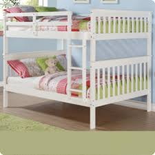 TEST Donco Kids Full over Bunk Bed with Attached Ladder in White