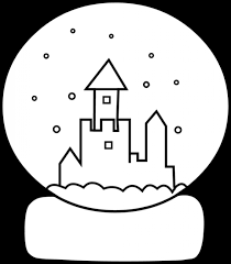 Small Picture Cute Snow Globe Coloring Page Free Clip Art with regard to Snow