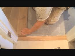 how to install flat hardwood floor transition to tile make it fit mryoucandoityourself you