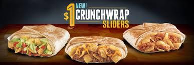 taco bell crunchwrap sliders. Exellent Sliders Taco Bellu0027s New Crunchwrap Sliders For Bell Sliders