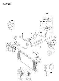 1989 jeep cherokee receiver drier condenser hoses diagram 00001939