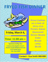 Printable Fish Dinner Flyer Template Flyer And Resume