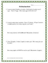 Word problems, Division and Matching games on PinterestThis is a series of relatively simple division word problems involving remainders. These can be