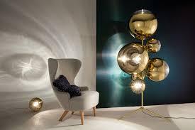 mirror ball stand chandelier gold