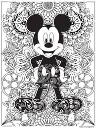 Coloriage Mandala Disney Mickeymouse Hd Dessin