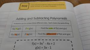 Naming Polynomials Chart Math Love Inb Pages For Algebra 1 Unit On Polynomials