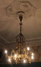 brooklyn new york foyer antique chandelier