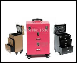 high quality vanity box professional trolley makeup aluminum carrying case 3 colours india
