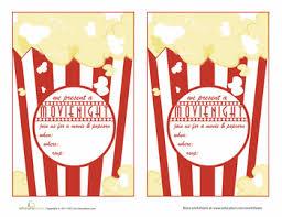 Movie Night Invitation Templates Printable Invitations Movie Night Download Them Or Print