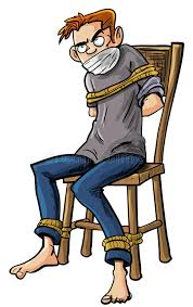 angry man tied to a chair with ropes stock ilration ilration of sitting
